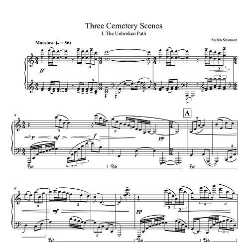THREE CEMETERY SCENES (solo piano)