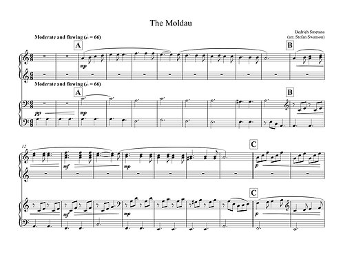 THE MOLDAU (4 hands)