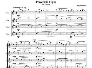 PRAYER AND FUGUE (flute quartet)