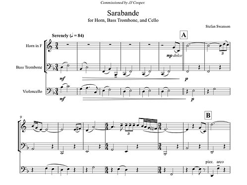 SARABANDE (horn, cello, bass trombone)