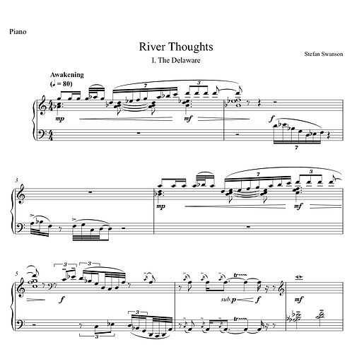 RIVER THOUGHTS (arr. for solo piano)