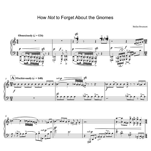 HOW NOT TO FORGET ABOUT THE GNOMES (solo piano)