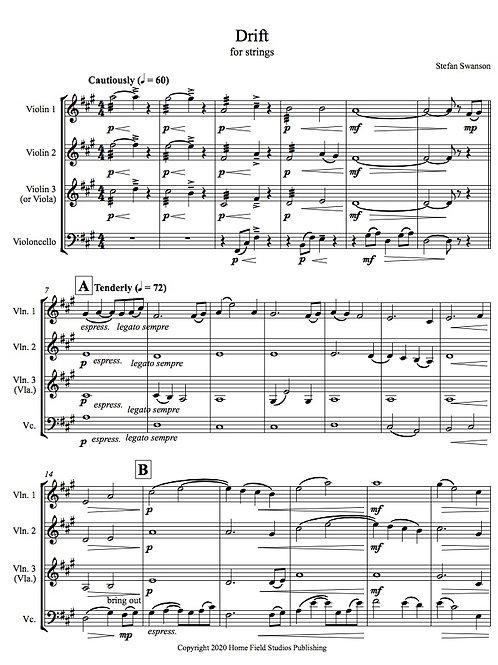 DRIFT (for string quartet or ensemble)