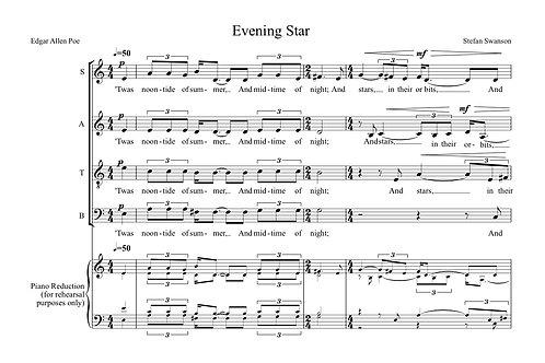 EVENING STAR (SATB)