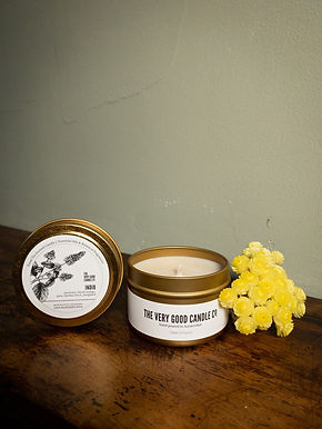 Brushed Gold Candle Tins