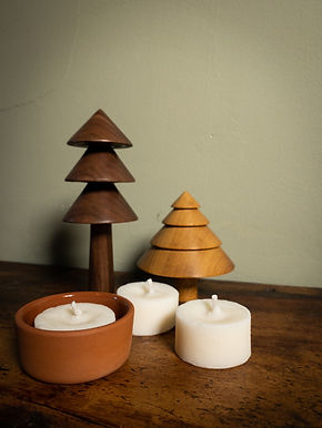 Scented Tea Lights and Terracotta Holder