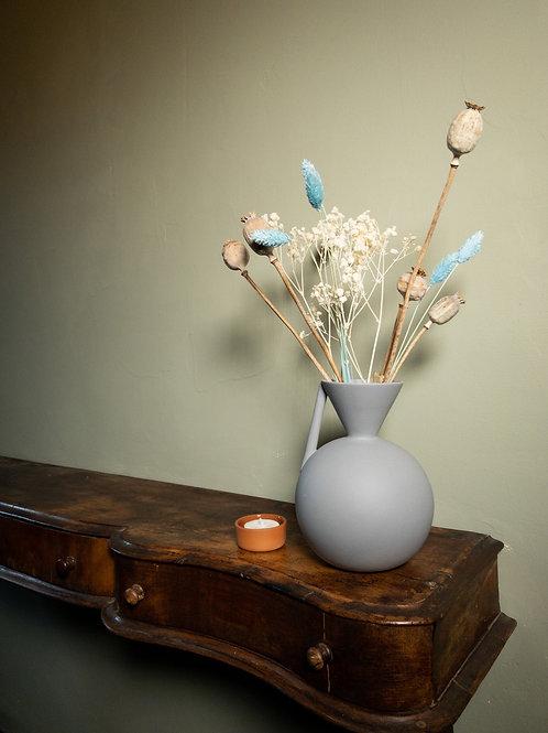 Farve Vase: Grey