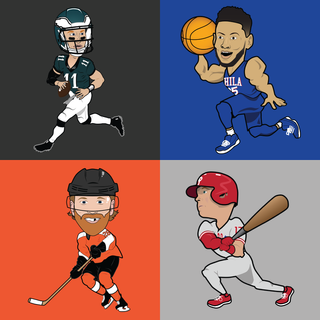 Philadelphia All-Stars Caricatures (2018)