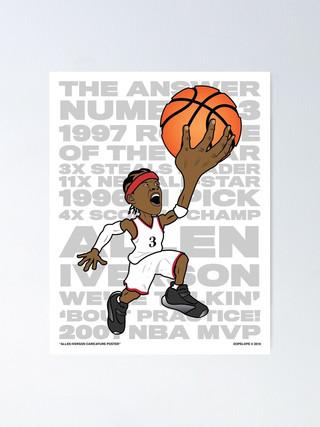 Allen Iverson Caricature Poster (2019)