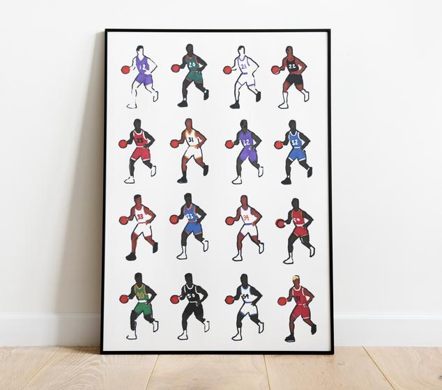 90s NBA Stars Stencil (2020)