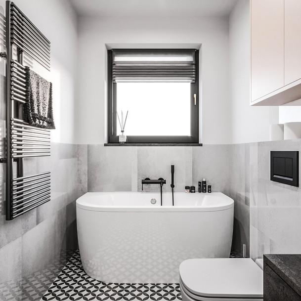 Łazienka z loftową nutą