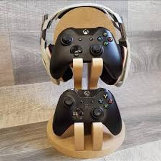 Double Controller and Headphone stand, gamer stand, Headset stand, personalised