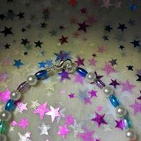 rainbow and pearls bracelet