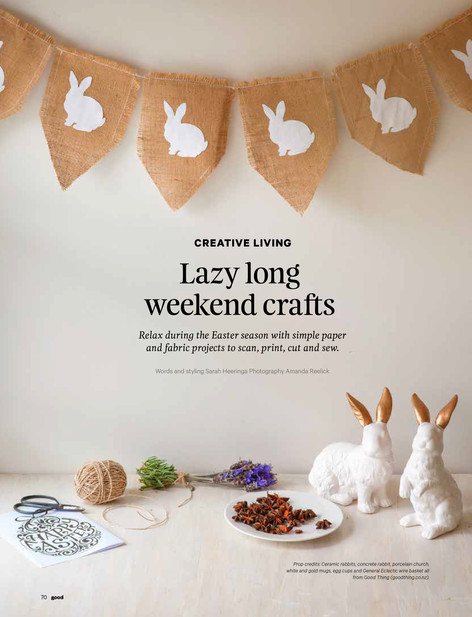 Easter craft in Good magazine