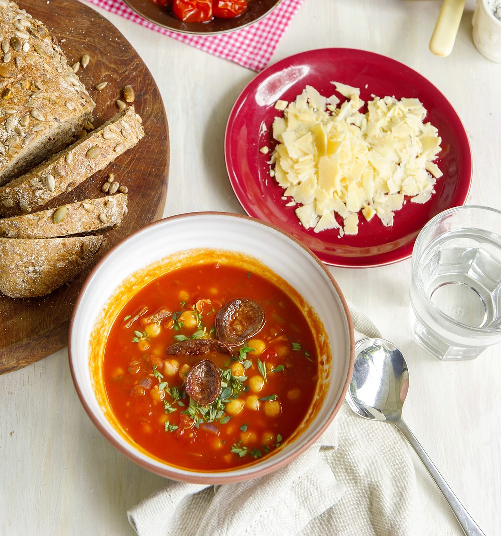 Simple and delicious homemade chorizo soup