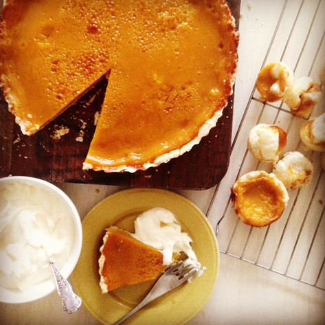 Thanksgiving pies large and small