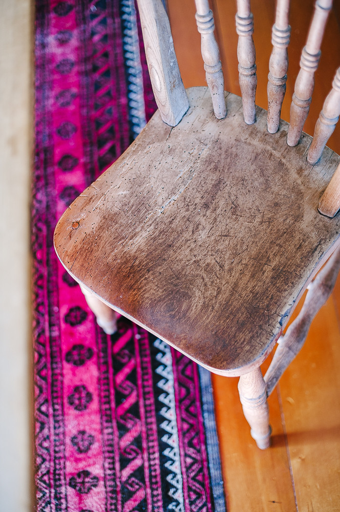 Wooden chair from Upcycling with Style. Photo Amanda Reelick