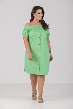 04038-000-053 Vestido de Tricoline Com E