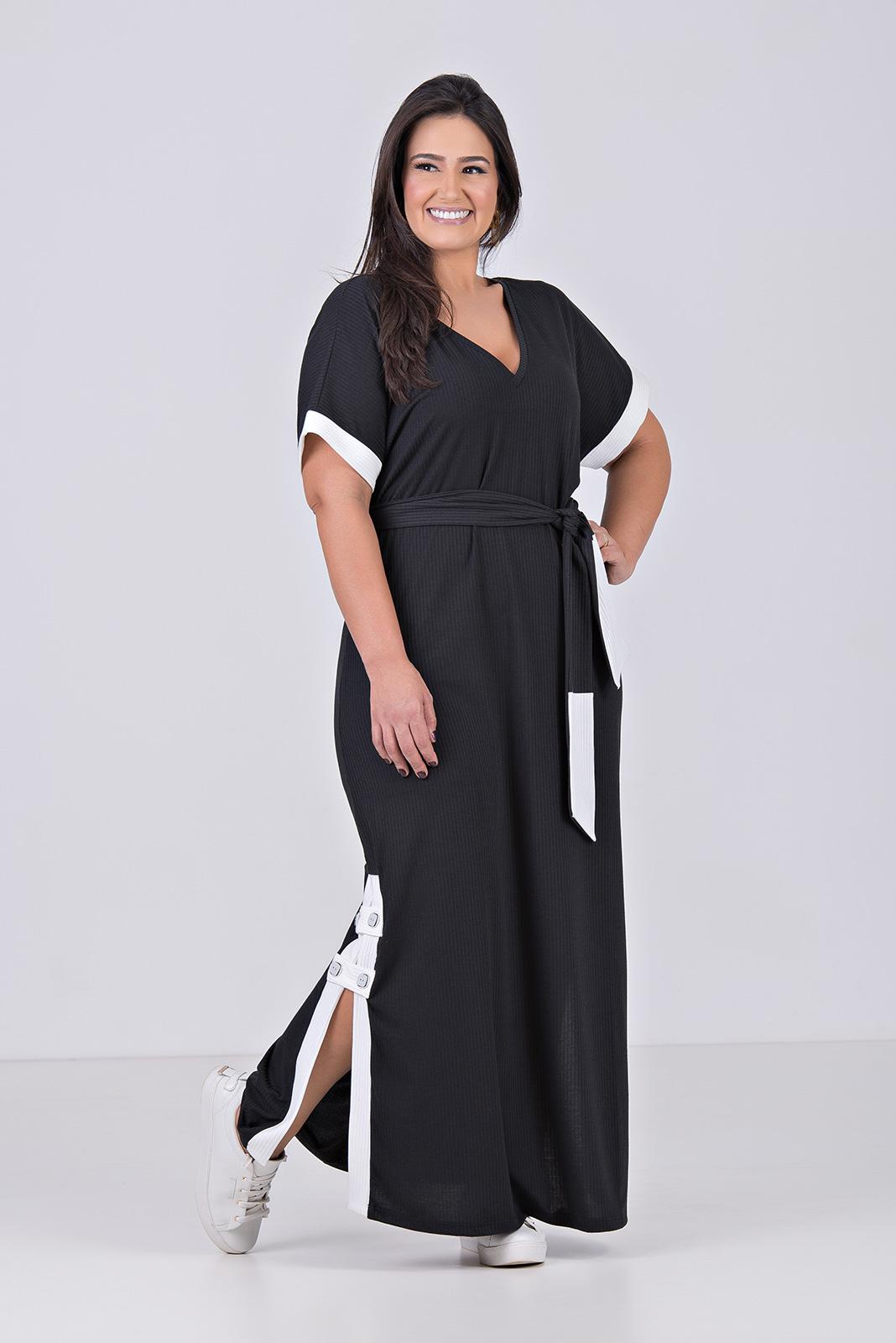 04016-000-012 - Vestido Comfy, Longo em