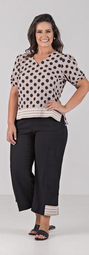 04030-012-012 Blusa de Tecido com Elasta