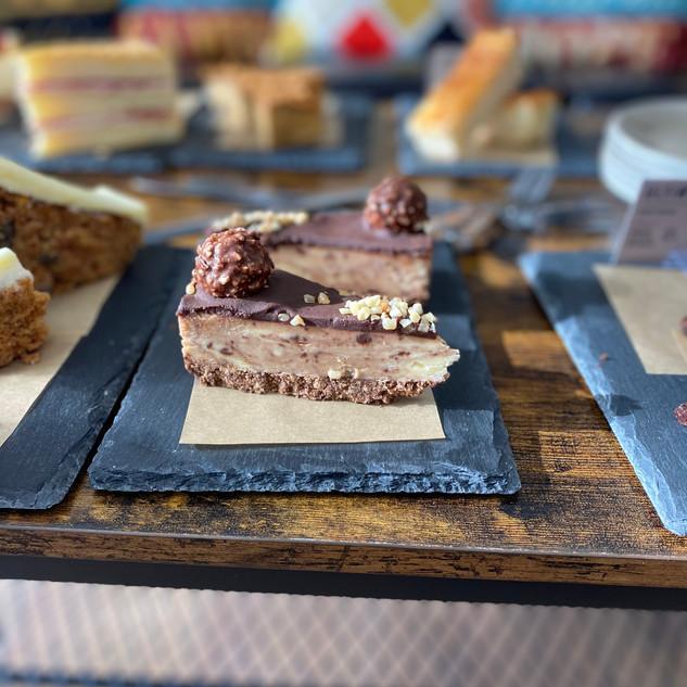 Nutella and Ferraro Roche Cheesecake