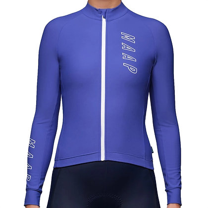MAAP women's long sleeved cycling jersey royal blue front