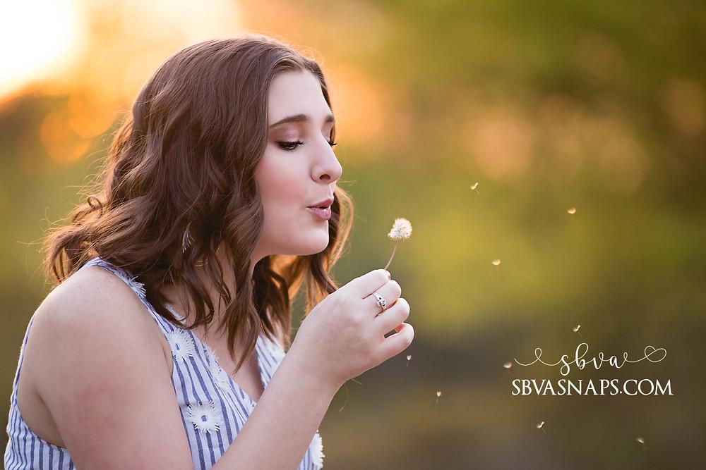 blowing dandelion photo