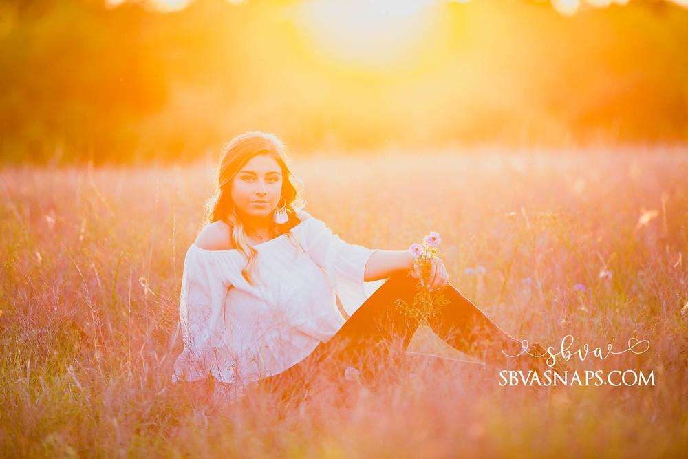 senior sunset photo frisco