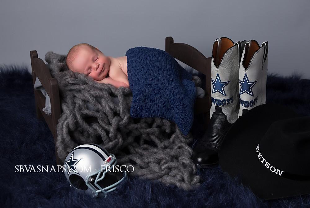 Dallas Cowboys newborn photo