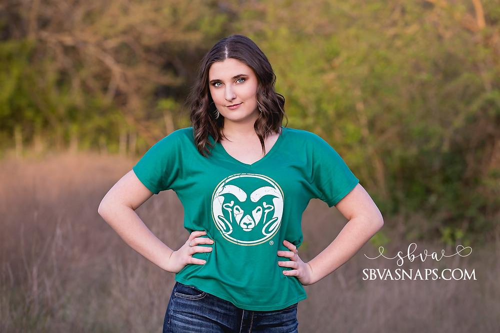 Colorado State University senior photo