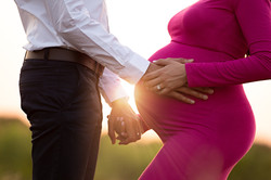 sunset maternity portraits