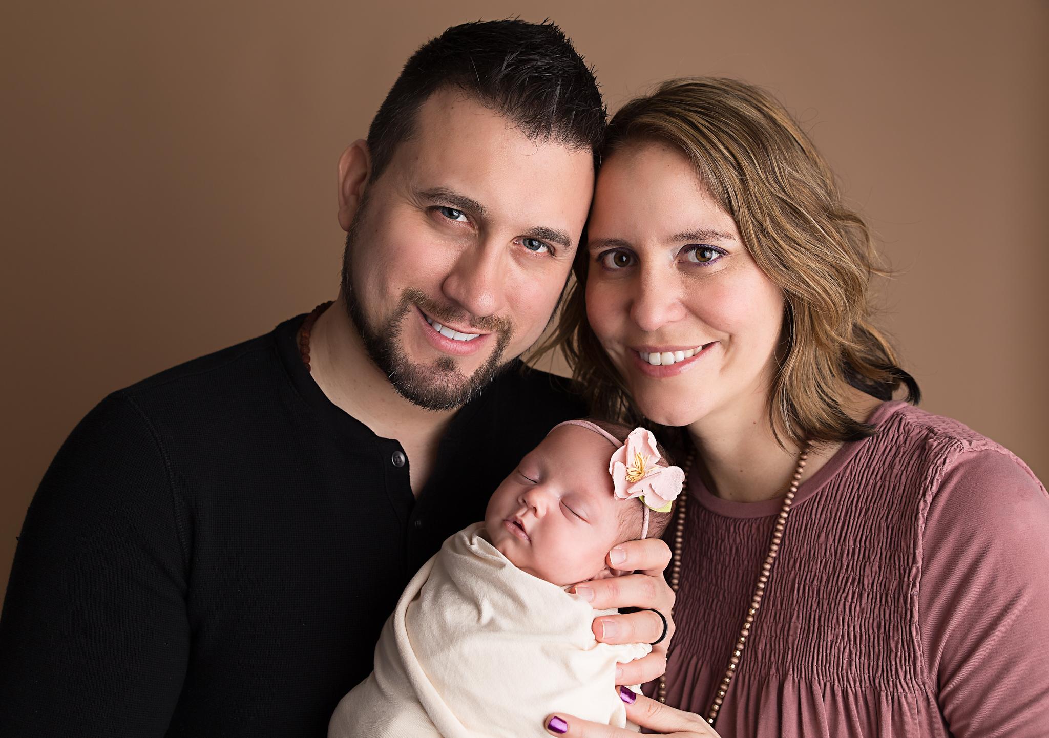Family newborn session