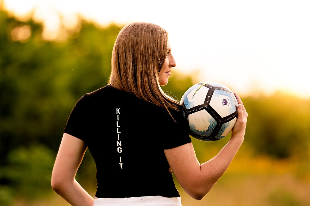 Senior Photos with Soccer Ball