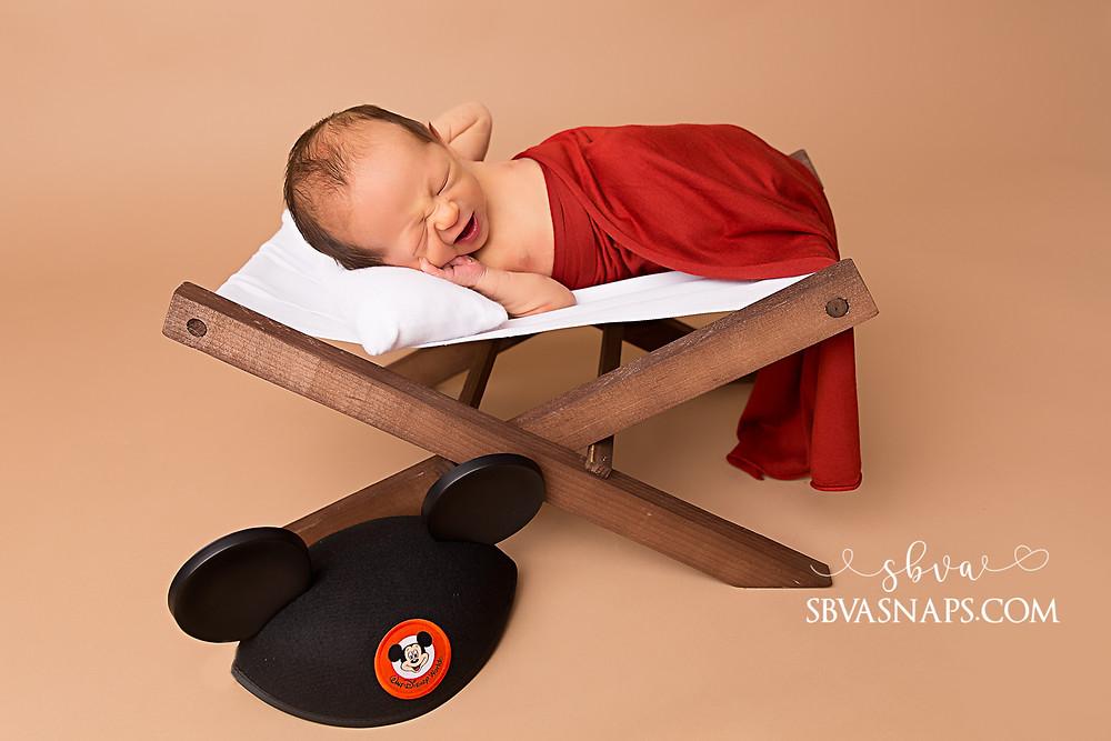 disney newborn photo