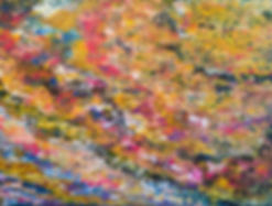 acrylic colour abstract painting toronto peace and chaos