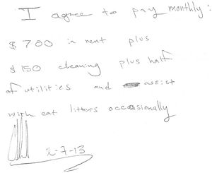 Lee agrees to pay rent in 2013.JPG