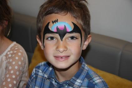 Batman facepainting