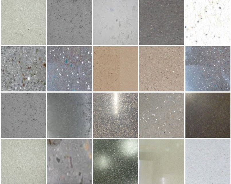 Polished Concrete Plaster sample samples chart board choices brochure examples