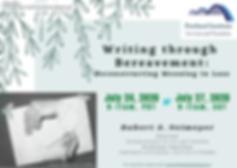 Writing thru Bereavement - Publicity Pos