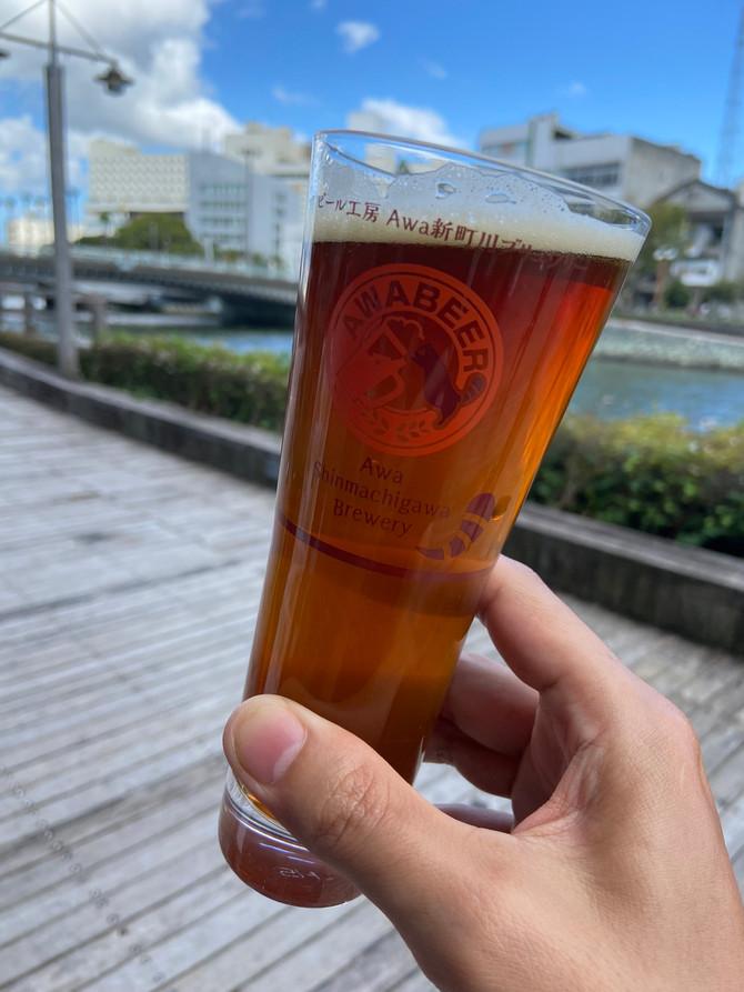 阿波市 福井園芸様コラボビール もち麦レッドエールご案内です
