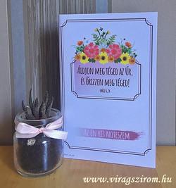 Virágszirom kézműves notesz