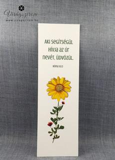 Préselt virág nyomat - könyvjelző