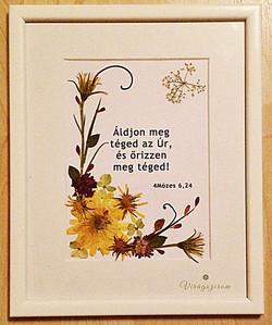 Virágszirom préselt virág falikép