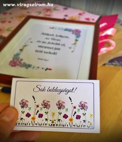 Ajándék kísérő kártya