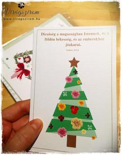 Kézműves karácsonyi képeslap