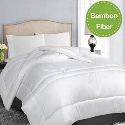 Bamboo Fiber White Comforter