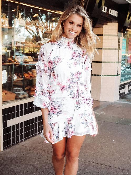 White Piper Dress