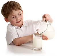 Kid Pouring Sammi's Best Soy Milk