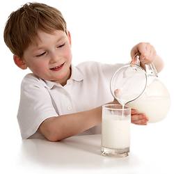 Kid Pouring Sammi's Best Soy Milk