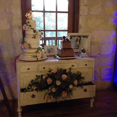 Antique White Buffet (wide)